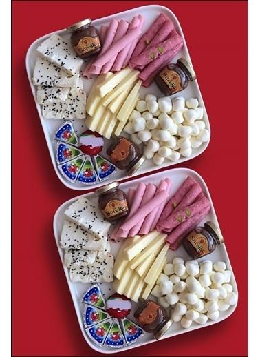 Kitchen Love SERAMİK 2 adet Beyaz  22x22x2cm Kare YemekTabak (Porselen değildir) Renkli